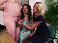 busty-british-femdom-tugs-sub-in-glamour-trio