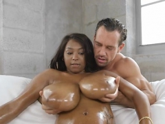 Big Titted Gorgeous Bitch Jerks Off Shlong
