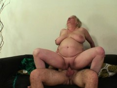 Busty Mother in law Rides On His Cock