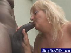 Dirty Old Granny Sucking A Huge Black Dick