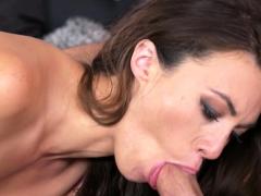 Stunning Brunette Milf Drains Big Dick