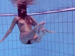 bushy and surprised underwater bitch gurchenko
