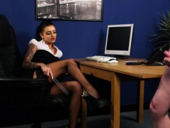 stockinged-british-voyeur-commands-sub-to-tug
