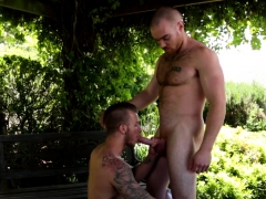 outdoors-assfucked-hunk-covered-in-milky-cum