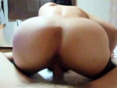 Hairy Wife In Stockings Reverse Cowgirl Fuck
