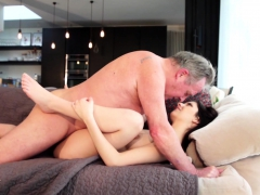 old-man-warming-up-my-young-pussy-and-cums-in-my-mouth