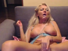 Slutty Milf Bitch Fingers Herself