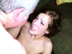 Teen Festival And Old Man Kiss First Time Cheerleaders