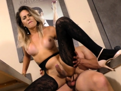 Tgirl And Dude Trade Blowjobs And He Fucks Her Ass