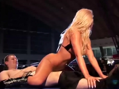 extreme sexy lapdance on public stage Striptease