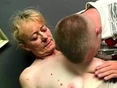 Bushy Gran Enjoys Being Fucked Hard