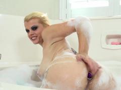 big titty nadia white masturbates in the bath