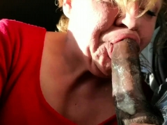 Interracial Sex For Sexy Blonde Milf And Big Black Cock