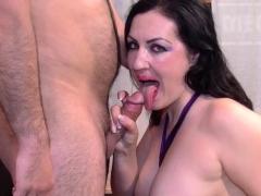 Group pounded busty slut