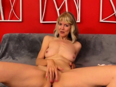 Older Tart Fingers Her Cunt And Receives A Fucking