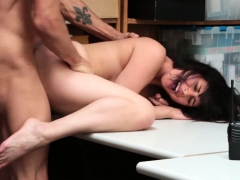 Sexy Shoplifting Teen Busted And Rough Fucked By Seucrity