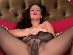 A Delightful Brunette Wife In Pantyhose