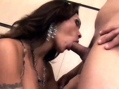 Tranny Yields Her Mouth And Asshole To A Horny Guy