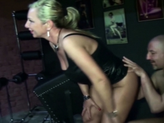 two-german-milfs-femdom-guy-and-seduce-him-to-fuck-in-latex