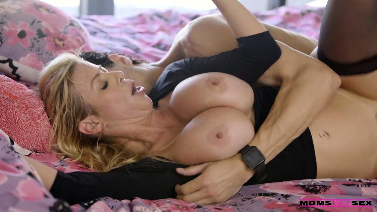 Blonde Milf Swallowing Cum