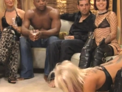 Pretty And Nasty Swinger Couples Having Fun At A Party