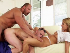Maintenance Man Fix Both Cock And Pussy At The Same Time