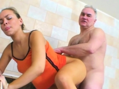 Legal Age Teenager Babe Loves Fucking Old, Experienced Dudes