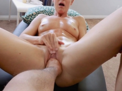 Stuffing stepmoms pussy with an entire fist