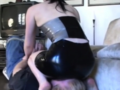 Sexy Female-dominator Sits On Man's Face