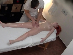 Redhead Girl Lets Masseur To Fuck Her Ass