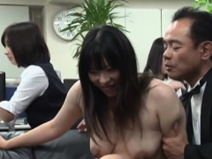 Hot Office Whore Completely Dominates Her Lewd Colleague