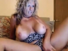 Lovely Blonde Milf Shows Off Her Pussy And Titties