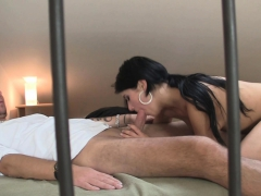 He Finds Brunette Gf Sucking And Riding Another Cock!