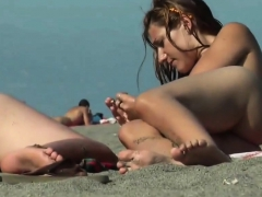 Nude Beach – Hot Little Tit Brunette Spreads