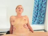 Blonde stepsister sucking