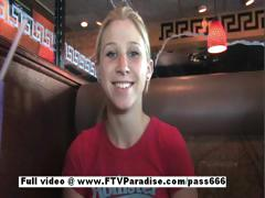 Awesome Girl Alanna Stunning Blonde Babe Does Public