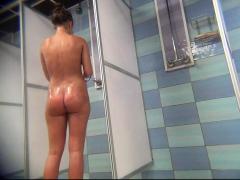 spycam male fingering booty in the shower hidden HD