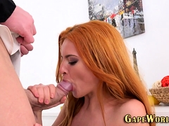 Anally Plowed Redhead