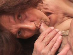 very-old-girlfriends-mom-rides-his-cock