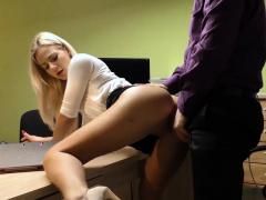 Loan4k. Cutie Has To Spread Legs In Office For Solving Her..