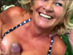 voluptuous granny with monster ass got cock
