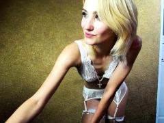 blonde tcutie in lingerie solo