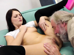 old goes young – talented cutie rides old penis in cowgirl