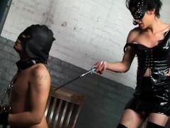 Ts Gal Spanks Her Slave