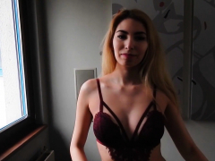 Foxy blonde european strips then goes solo