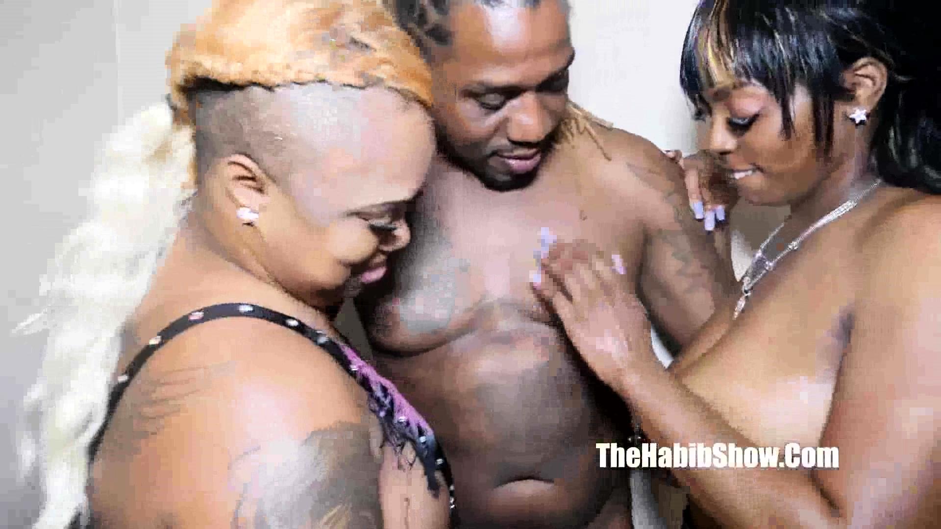 Ebony Black Couple Threesome