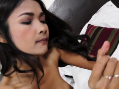 Asian Hooker Sucks On Big Dong Before Being Drilled Deep