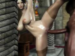Hentai demon girl rides guys hard cock