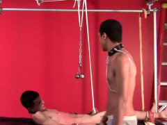 Skinny twink with big cock spanked and bondage fetish