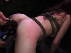 slave haircut and public use bondage first time helpless